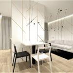 Projekt wnętrza mieszkania stylowy minimalizm