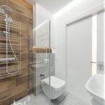 Projekt wnętrza jasnej łazienki