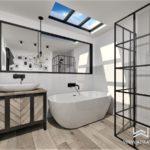 Projekt łazienki w stylu loftowym